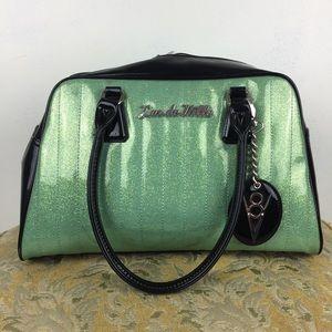 Lux De Ville Green Sparkle V8 Rockabilly Bag